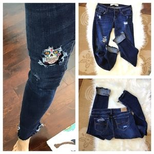 Upcycled Distressed Patched Denim Jeans